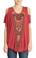 Free People Embroidered Top - Lyst