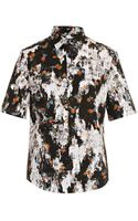 McQ by Alexander McQueen Patched Floral Short-sleeved Shirt - Lyst