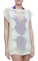 Jean Paul Gaultier Palmier Cotton Crochet Tunic Cream - Lyst