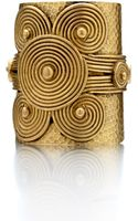 Theodora & Callum Brass Nefertiti Cuff Bracelet - Lyst