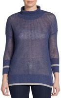 James Perse Open-stitched Knit Cashmere Sweater - Lyst