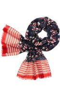 Tory Burch Field Flower Oblong Scarf - Lyst