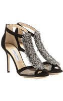 Jimmy Choo Feline Embellished Suede Sandals - Lyst
