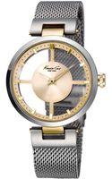 Kenneth Cole New York Womens Stainless Steel Mesh Bracelet Watch 36mm - Lyst