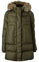 Add Fur Trimmed Coat - Lyst