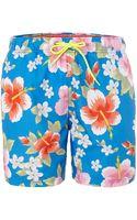 Tommy Hilfiger Floral All Over Print Swim Short - Lyst