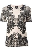 McQ by Alexander McQueen Floral Lace Tshirt - Lyst