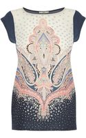 Oasis Paisley Placement Tshirt - Lyst