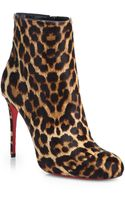 Christian Louboutin Fifi Leopardprint Calf Hair Ankle Boots - Lyst