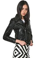 Saint Laurent Studded Nappa Leather Biker Jacket - Lyst