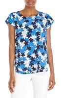 Diane von Furstenberg Floral Print Silk Top - Lyst