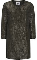 Milly Slim Metallic Coat - Lyst
