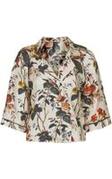 Topshop Autumn Floral Wrap Top by Boutique - Lyst