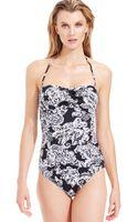 Lauren by Ralph Lauren Paisley Print Onepiece Swimsuit - Lyst