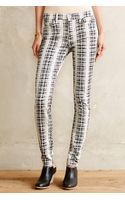 7 For All Mankind Houndstooth Skinny Jeans - Lyst