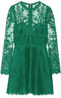 Elie Saab Lace Mini Dress - Lyst