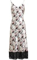 Meadham Kirchhoff Floral Printed Silk Satin Slip Dress - Lyst