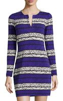 Diane von Furstenberg Reina Long Sleeve Printed Dress - Lyst