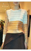 Kenzo Metallic Blocking Sweater White - Lyst