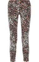 Current/Elliott The Stiletto Printed Midrise Skinny Jeans - Lyst