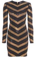 Balmain Embellished Jersey Dress - Lyst