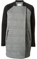 Pinko Checked Coat - Lyst