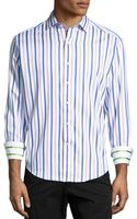 Robert Graham Amaretto Striped Woven Sport Shirt Lilac Xl - Lyst