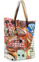Marni Faceprint Pvc Shopping Bag - Lyst