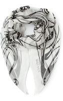 Alexander McQueen Artistic Skull Scarf - Lyst