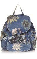 Topshop Floral Mom Backpack - Lyst