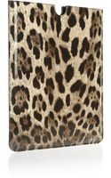 Dolce & Gabbana Leopard-print Patent-leather Ipad Sleeve - Lyst