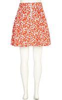 River Island Red Ditsy Floral Print Skater Skirt - Lyst