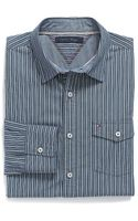 Tommy Hilfiger Custom Fit Stripe Shirt - Lyst
