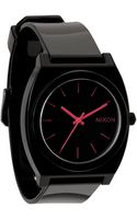 Nixon Time Teller P Black and Pink Watch - Lyst