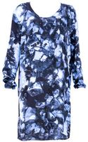Cristina Sabaiduc Navy Print Tunic Dress - Lyst