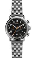 Shinola The Runwell Chronograph Black Dial Watch 41mm - Lyst