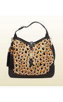 Gucci New Jackie Leopard Print Calf Hair Shoulder Bag - Lyst