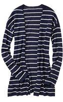 Gap Stripe Open Front Cardigan - Lyst