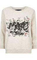 Marc By Marc Jacobs Tag Print Sweatshirt - Lyst