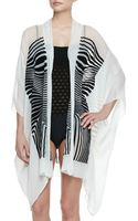 Jean Paul Gaultier Optical Sheer Striped Chiffon Coverup - Lyst