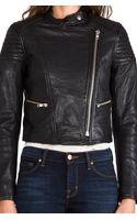 Nicholas Leather Biker Jacket in Black - Lyst