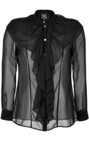 McQ by Alexander McQueen Sheer Victorian Blouse - Lyst