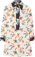 Carven Blush Printed Poplin Flower Print Dress - Lyst