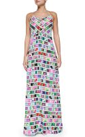 Mara Hoffman Printed Halter-neck Maxi Dress - Lyst