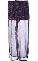 Sacai Sheer Wide Leg Trouser - Lyst