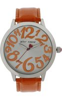 Betsey Johnson Orange Crocembossed Strap Watch 44mm 11 - Lyst
