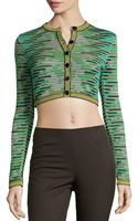 M Missoni Space-dyed Cropped Cardigan - Lyst