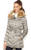 Laundry By Shelli Segal Faux Fur Hooded Quilted Puffer Coat - Lyst