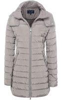 Armani Jeans Long Hooded Puffa Jacket - Lyst
