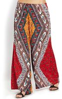Forever 21 Scarf Print Wide Leg Pants - Lyst